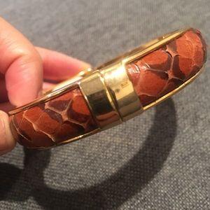 Vita Fede snakeskin bangle bracelet
